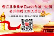 2020年蕲春县融媒体中心公开招聘事业单位工作人员考察公告