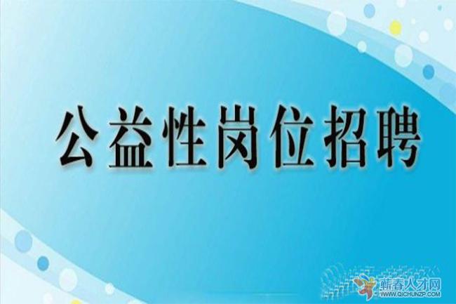 蕲春县就业训练中心招聘公益性岗位工作人员公告